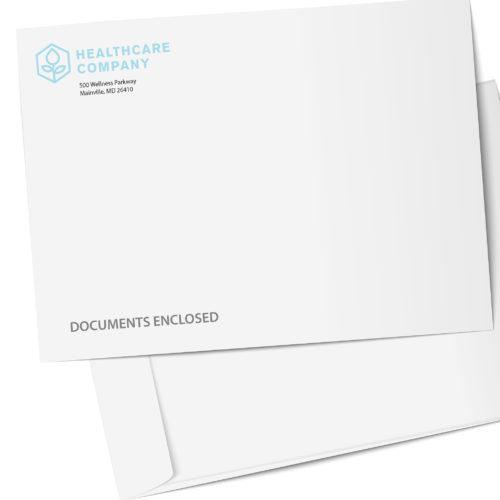 Custom printed catalog envelope