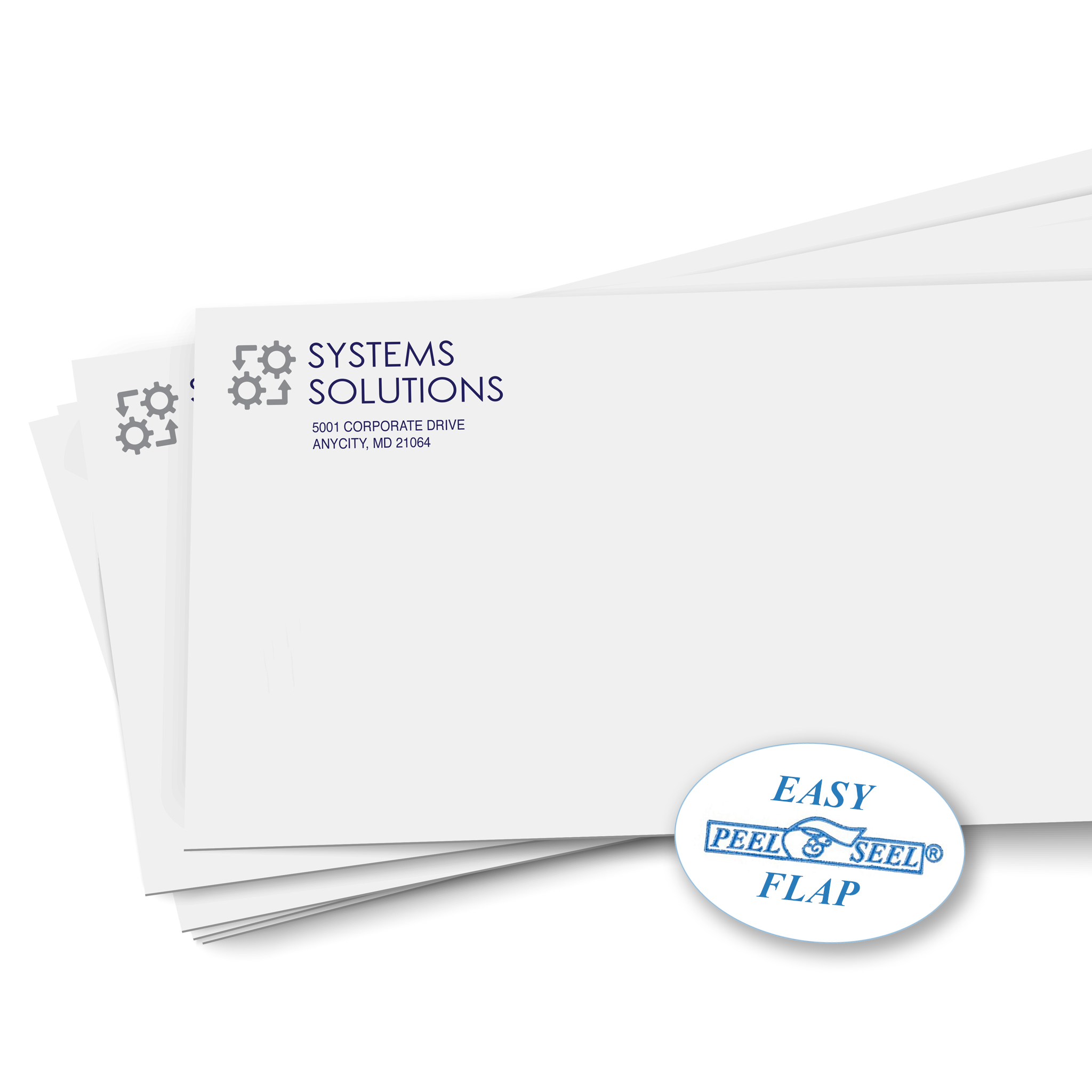 self-sealing printed envelope