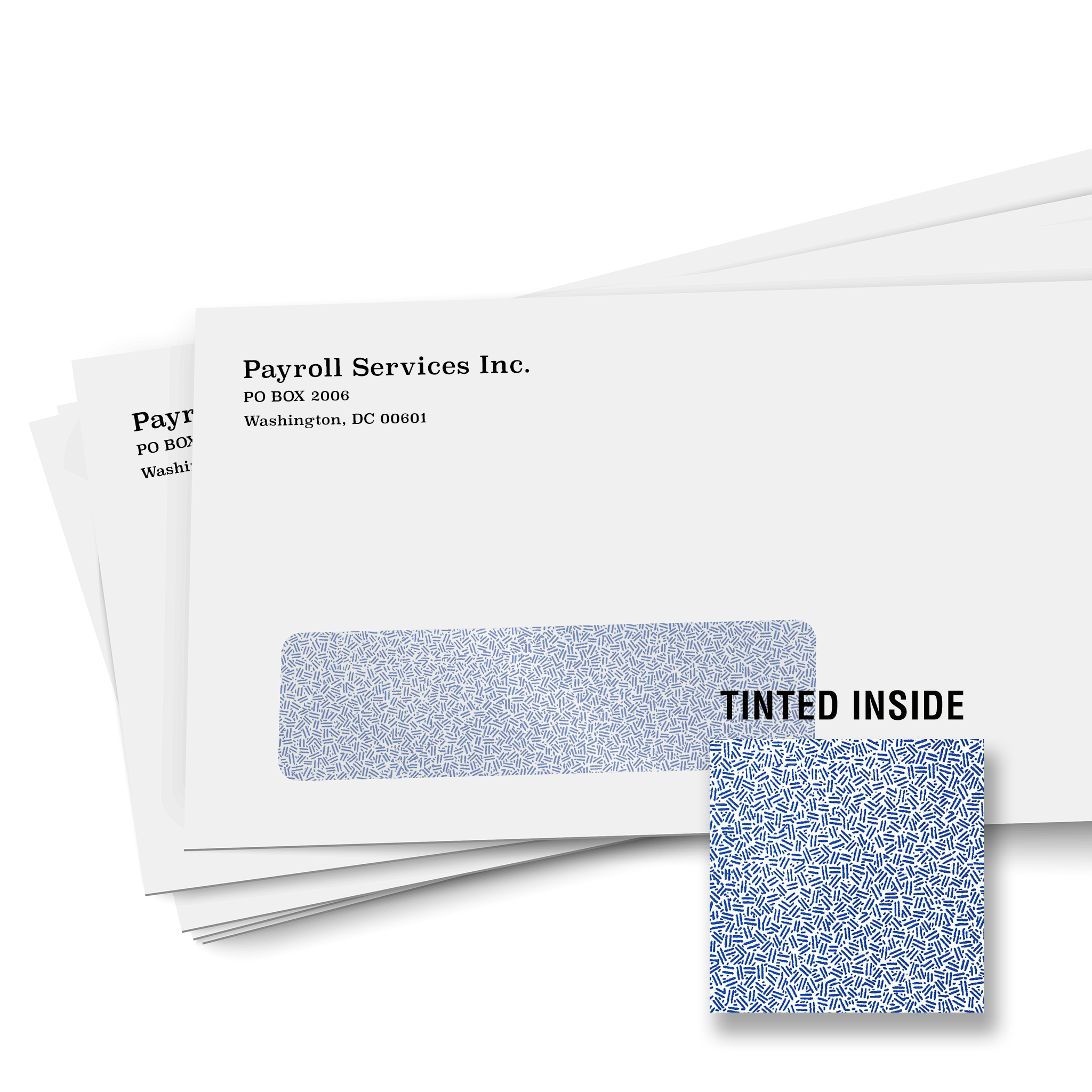 Custom printed window security tint envelope