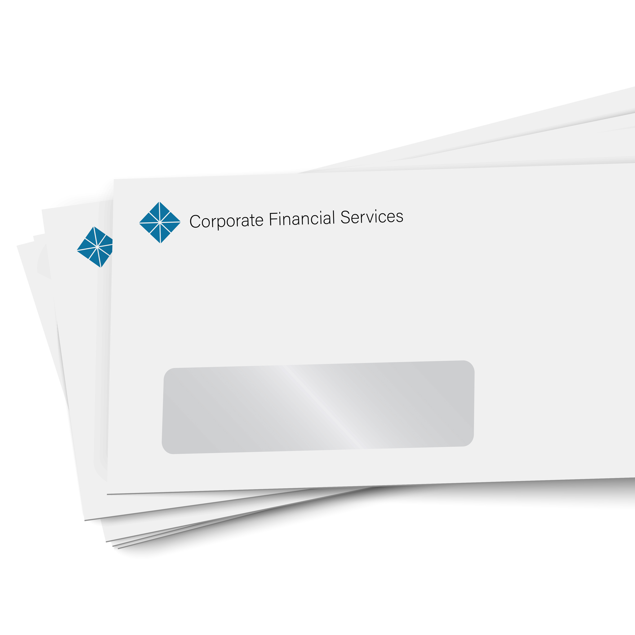 Custom printed corporate window envelope