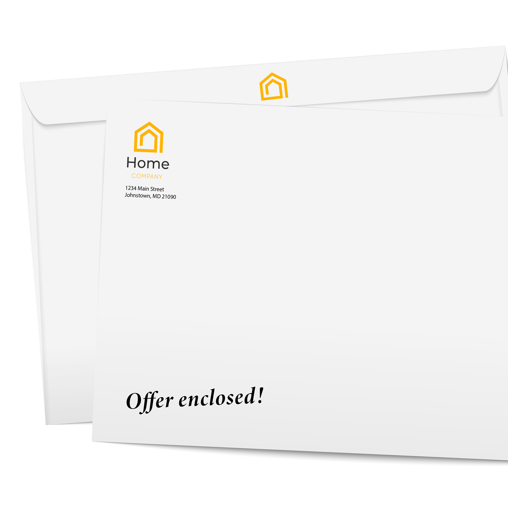 Custom printed corporate envelopes