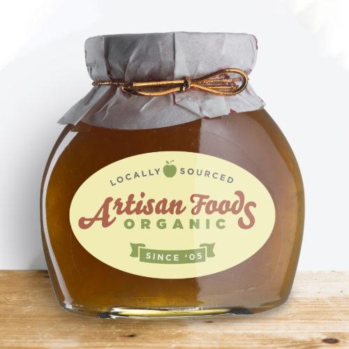 oval jar label