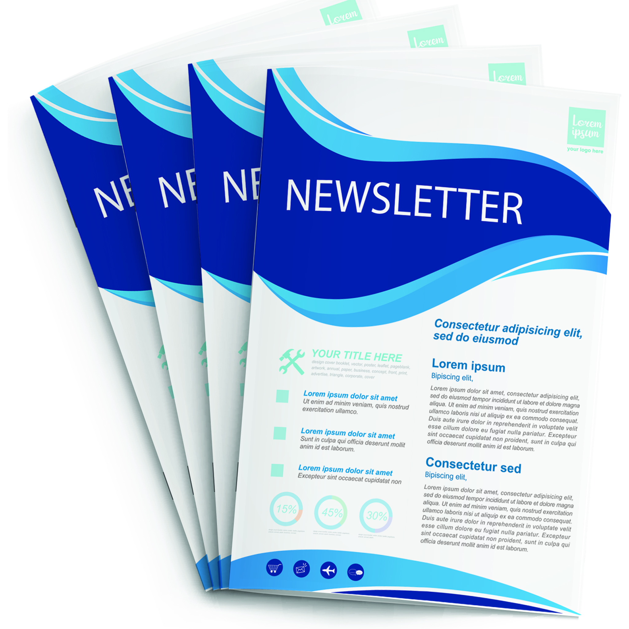 stapled booklet newsletter