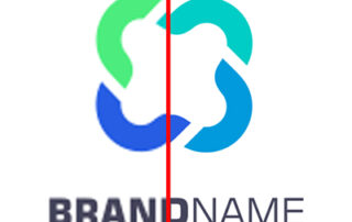 Side by side comparison of a fuzzy and non-fuzzy logo