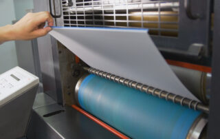 process of professional offset printing