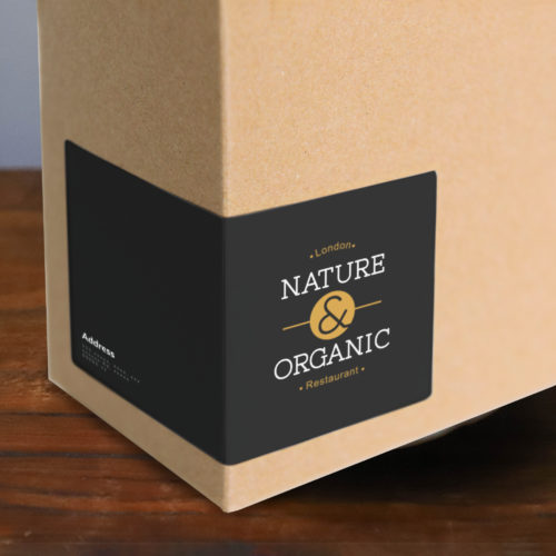 Label that wraps around the corner of a box