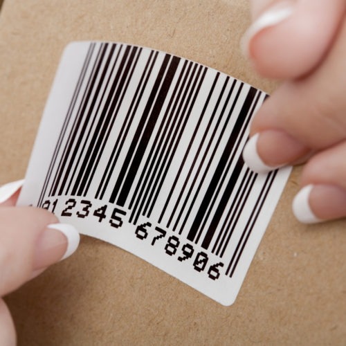 Custom printed barcode product label