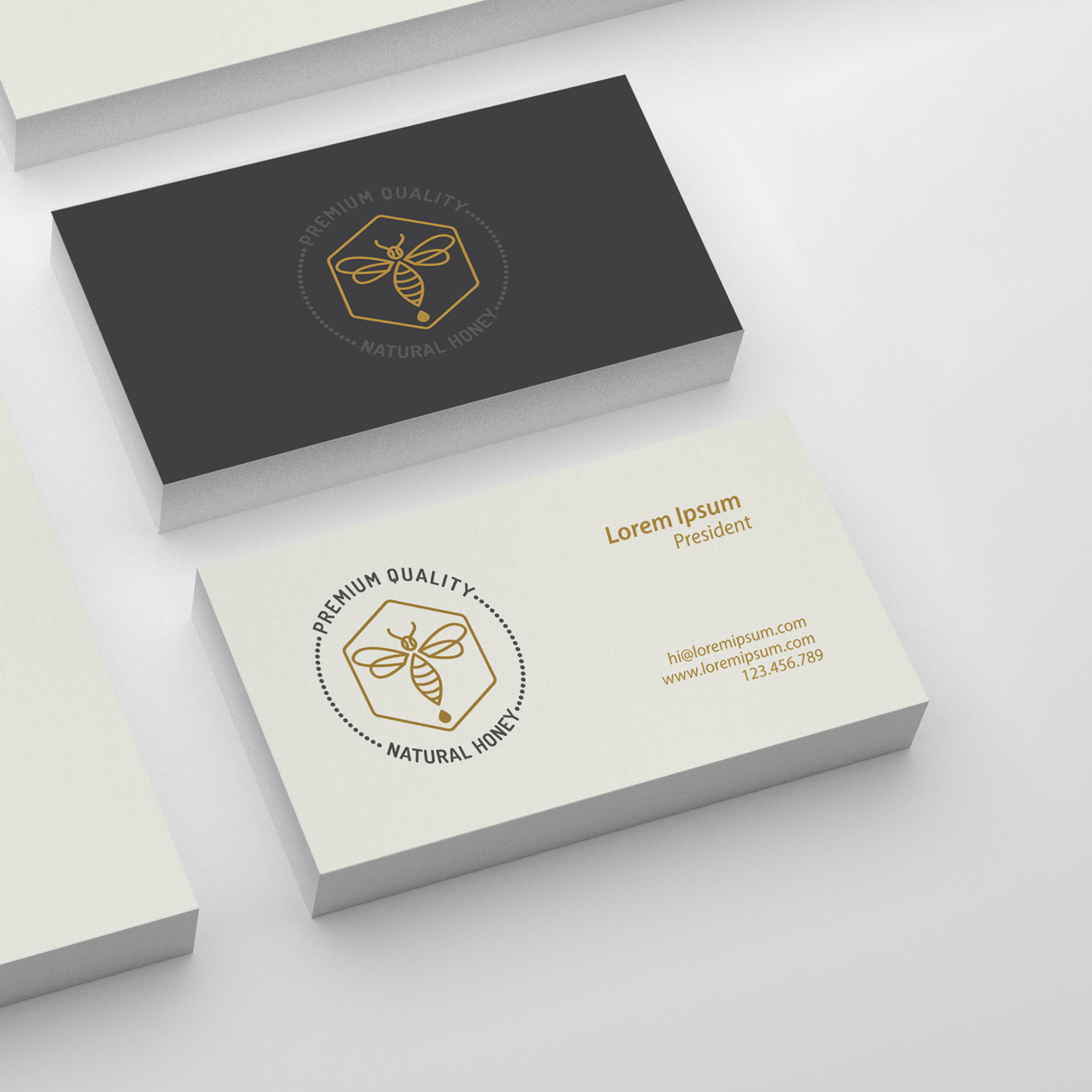 Custom corporate stationery business cards