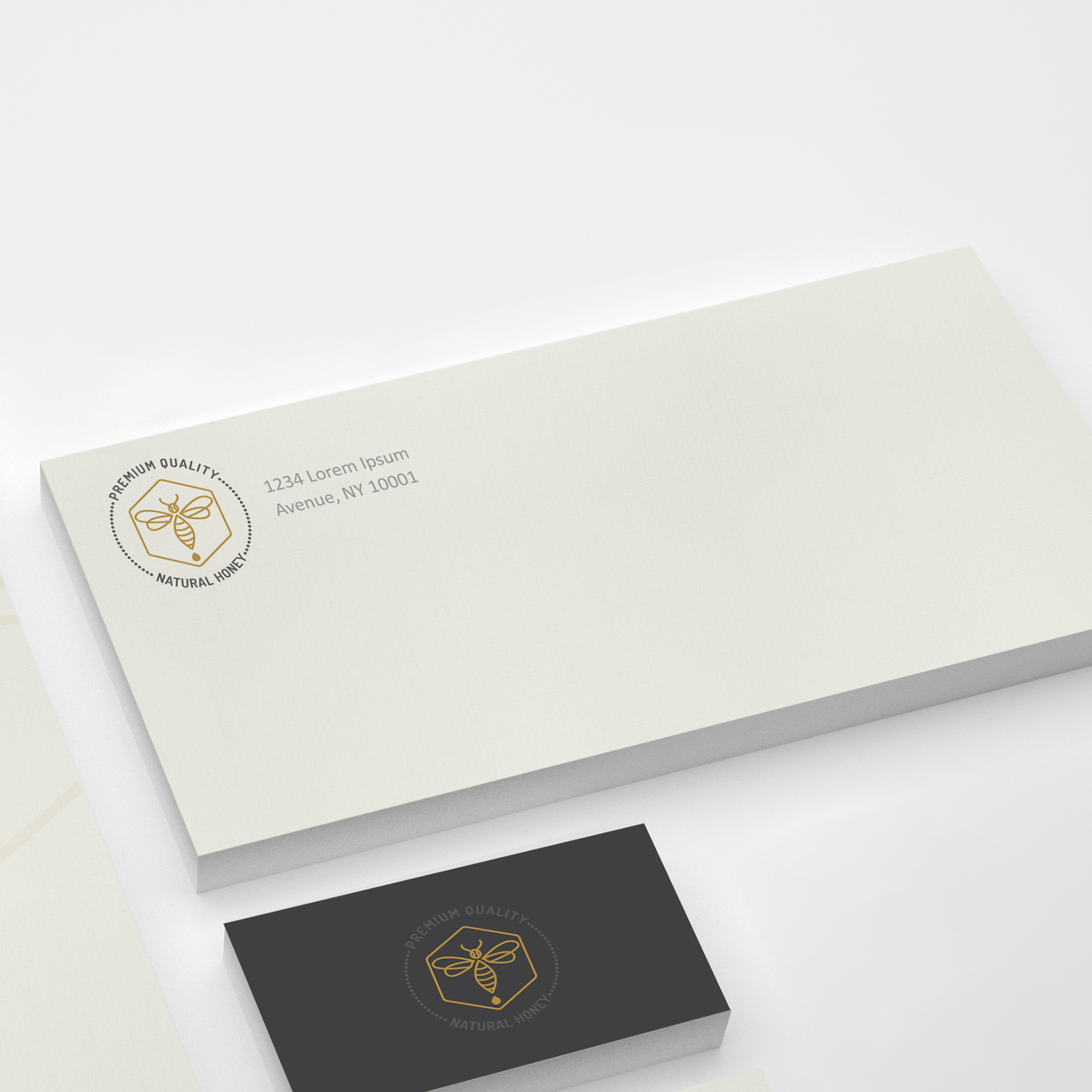 Custom corporate stationery envelopes