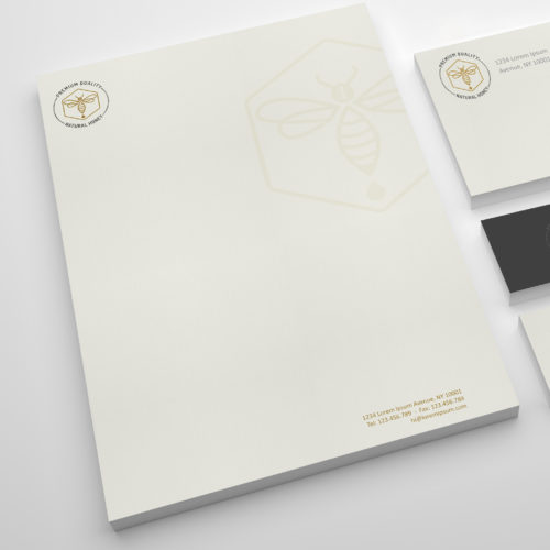 Custom corporate stationery letterhead