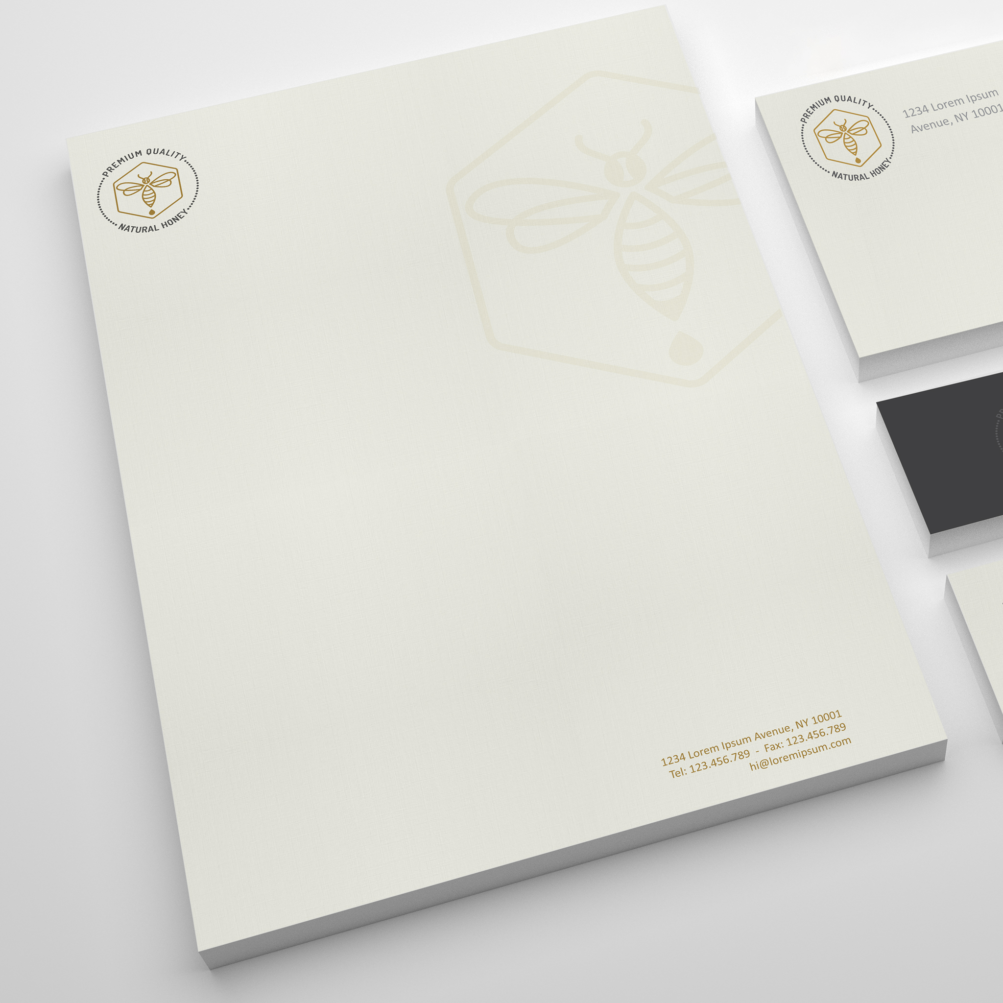 Custom corporate stationery letterhead